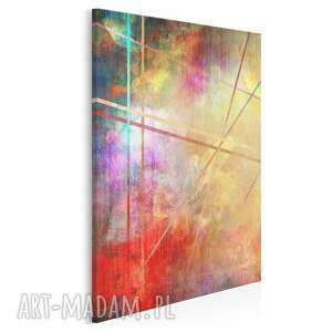 obraz na płótnie - abstrakcja kolory linie w pionie 50x70 cm 73303