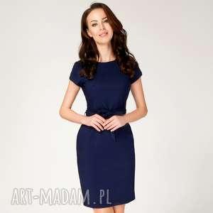 Sukienka SARA Ołówkowa Granatowa Roz. 36;38;40, ołówkowa-sukienka, sukienka-do-pracy