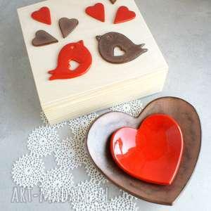 Romantyczne pudełko, miseczka, serce, romantyczne, ślub, miłość