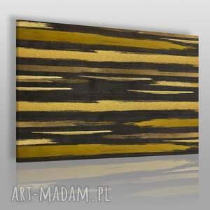 obraz na płótnie - linie złoty abstrakcja 120x80 cm 82701, linie, złoty