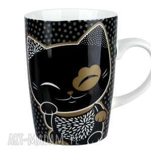 kubki kubek mani lucky cat black, kimmidoll, kubek, prezent, manilucky
