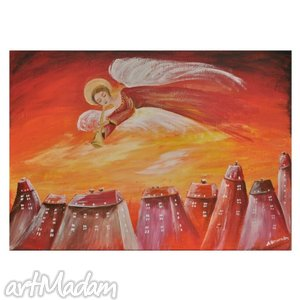 obrazy kołysanka anioła, obraz na pótnie, obraz, anioł, anioły, dziecko, dziecięcy