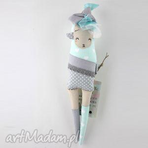 siostra szi - zabawka hand made, prezent, lala, owieczka, zajączek, miękki
