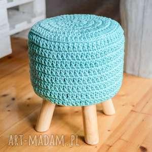 stołek puf scandi ze sznurka bawełnianego, pufa, puf, stołek, podnóżek, sznurek
