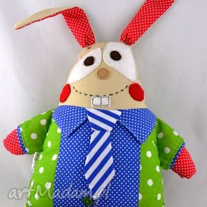 Prezent Zając Feluś, szyta przytulanka., przytulanka, zając, królik, maskotka