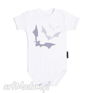 białe body dla dzieci i niemowląt z krótkim rękawem - nietoperze, body, dziecko