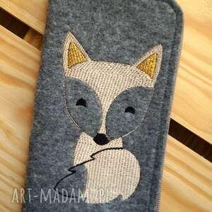 filcowe etui na telefon - lisek, smartfon, pokrowiec, futerał, fox, koraliki