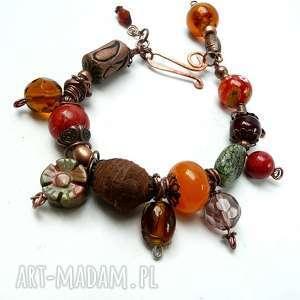 bransoletka boho w kolorach jesieni modna bransoleta dla miłośniczek stylu