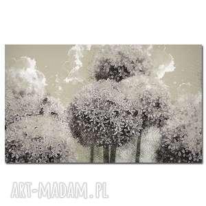 Obraz XXL CZOSNE 1 - 120x70cm design kwiat na płótnie, czosnek,