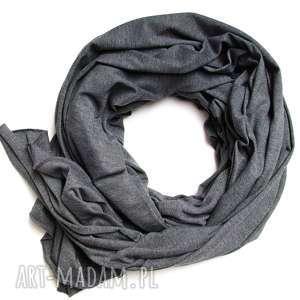 grafitowy szal bawełniany, chusta szalik szal damski na jesień, modny szal xl