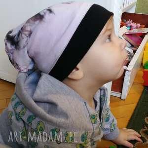 czapka dziecięca dzianina bawełniana recznie farbowana, czapka, bawełna