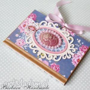 barokowy notes, zapiski, notatnik, kamea, barok, prezent, pod choinkę