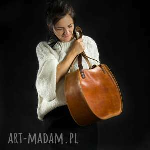 na ramię torebka skórzana wykonana ręcznie basia w rozmiarach l oraz slim