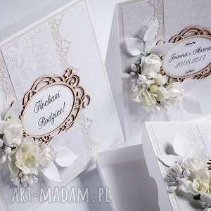 Zaproszenia, podziękowania dla rodziców, scrapbooking, pudełko, zaproszenie, ślub