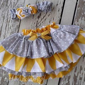 ubranka zestaw yellow, majuhandmade, ubranka, szycie, noworodek, sesja, props