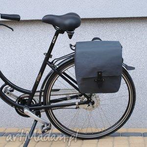 world of barracuda sakwa rowerowa toskania grafit, rower, torba, praca, zakupy