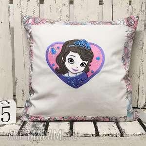Poduszka z haftem ZOSIA 40x40cm , poduszka-zosia, poduszka-księżniczka, zosia