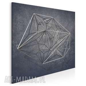 vaku dsgn obraz na płótnie - geometryczny loft industrialny w kwadracie