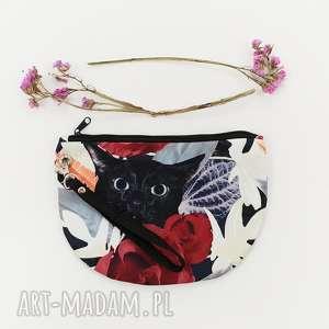 kosmetyczka kot w kwiatach - ,kosmetyczka,kwiaty,kot,kotek,vintage,