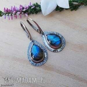 Krople niebieskości - kolczyki jewelsbykt srebrne, eleganckie