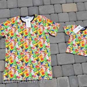 Komplet koszulek PAPUGA dla taty i syna/córki!!, koszulki, komplet, tataisyn, papugi
