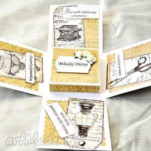 Exploding box - kartka prezent na ślub scrapbooking kartki