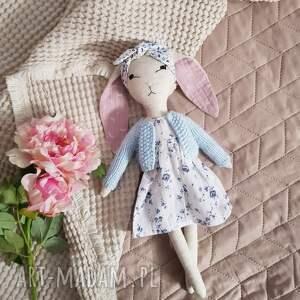 tilda króliś lala materiałowa, dla dziewczynki, szyta, lalka, córki