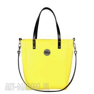 torba damska cuboid yellow waterproof, żółta torebka, elegancka pojemna