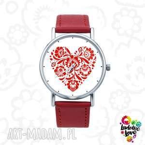 Zegarek z grafiką FOLK LOVE, polski, folklor, ludowe, wzory, modny, dodatek