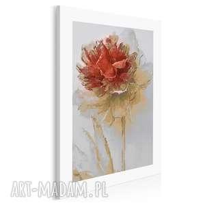 Obraz na płótnie - kwiat czerwony 50x70 cm 02003 vaku dsgn kwiat