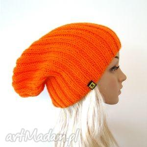 pomarańczowa czapka unisex - czapka, czapeczka, unisex, lekka, pachnąca, prezent