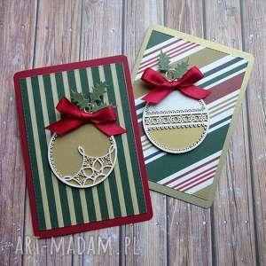 Na święta upominki? Świąteczny dwupak 2 scrapbooking kartki