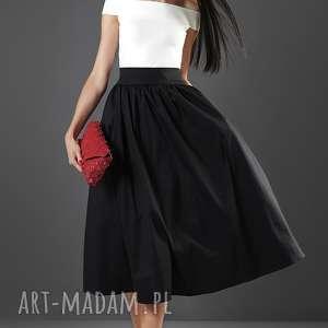 spódnice czarna spódnica midi, spódnica, elegancka, rozkloszowana, wesele