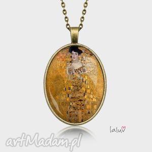 medalion owalny kobieta w zŁocie - obraz, kobieta, złoto, klimt, sztuka, prezent