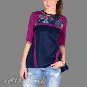 prezent na święta, bluzka loose flower top, bluzka, kieszenie, zamek, kolorowa