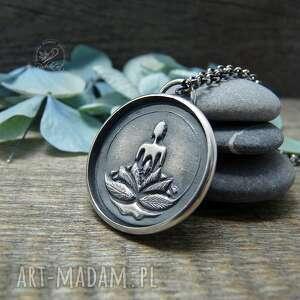 silver yoga necklace, srebrny naszyjnik, naszyjnik joga, yoga, boho biżuteria