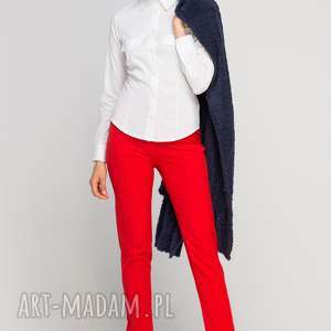Klasyczna koszula, K106 ecru, casual, elegancka, taliowana, klasyczna, kołnierzyk