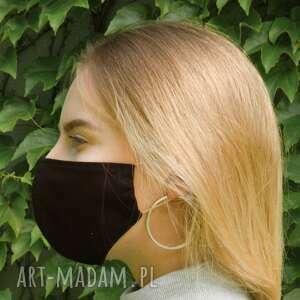 czarna maseczka, maska, wielorazowa, ochronna, lekka, jednowarstwowa
