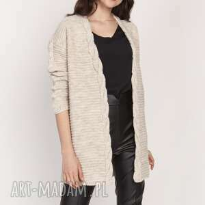 ciepły sweter - kardigan, swe127 beż, sweter, ciepły, wyjściowy