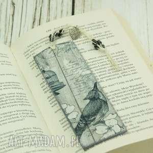 drewniana zakładka do książki - birds, zakładka, drewniana, książki, ptaki