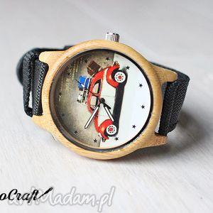 hand made zegarki drewniany zegarek garbus
