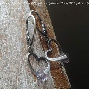 lilac love kolczyki z ametystu i srebra