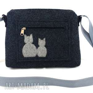 Aneta Pruchnik Small bag & grey cats