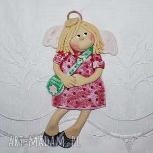 ręcznie zrobione pokoik dziecka byłam na zakupach - aniołek z masy solnej