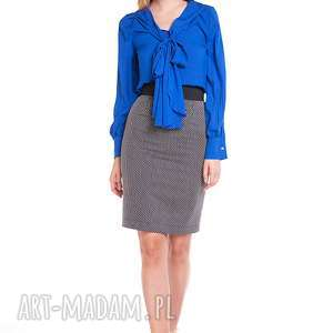 Spódnica Karolina, moda, ołówkowa, prążki, praca, biuro