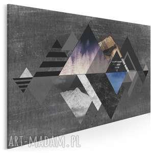obraz na płótnie - abstrakcja góry 90x60 cm 19602/90x60, abstrakcja