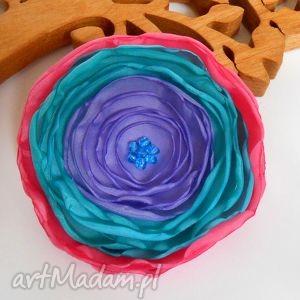 kwiatuszek - broszka - kwiaty, broszka, rękodzieło, biżuteria, modna