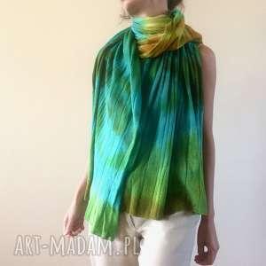 ręczne wykonanie szaliki kolorowy wełniany szal