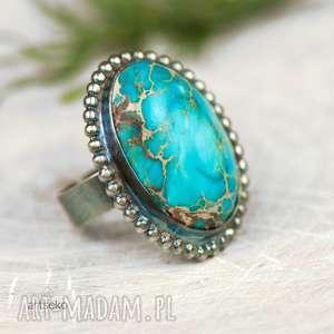 a588 wielki błękit pierścionek srebrny, pierścionek-srebrny, niebieski-srebrny