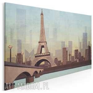 obraz na płótnie - paryż sekwana 120x80 cm 57901, paryż, sekwana, krajobraz
